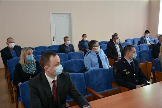 Заседание Оперативного штаба с участием и.о. министра природных ресурсов и экологии Чувашской Республики Андрея Воробьева