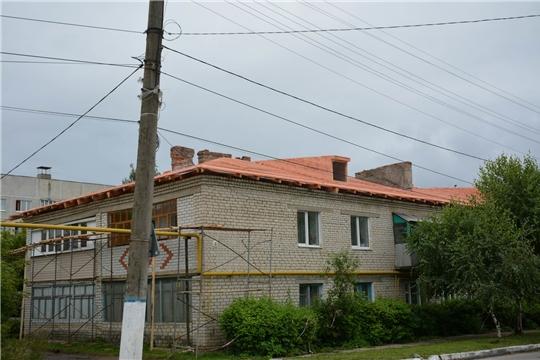 В Вурнарах проводится капитальный ремонт общего имущества в 5 многоквартирных домах