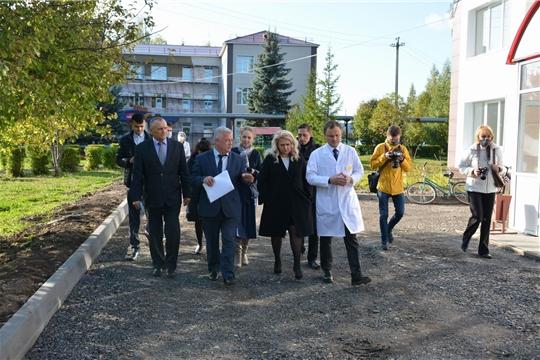 Рабочий визит Аллы Салаевой в Вурнарский район