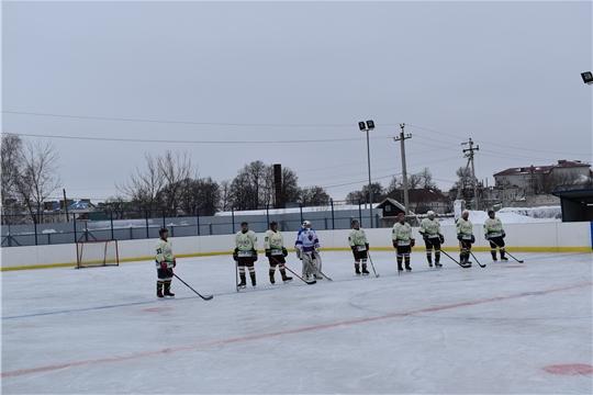 Первенство Чувашской Республики по хоккею среди сельских команд. Энежь (Козловка)-Рубин (Ядрин)