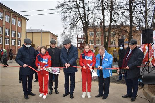 Открытие Центра тяжелой атлетики в Ядринском районе