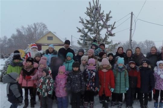 Рождественская ёлка в селе Лащ-Таяба