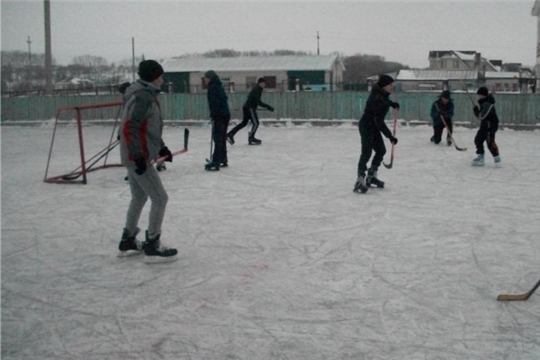 Товарищеский матч по хоккею с шайбой между командами студентов и и школьников