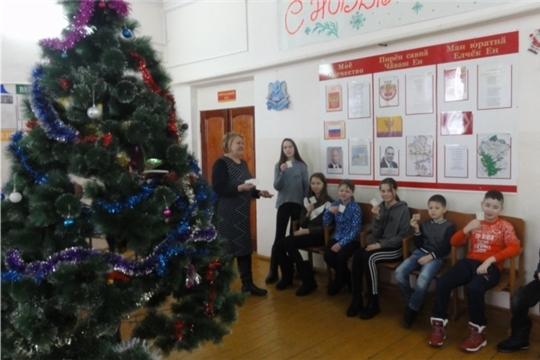 Члены драматического кружка «Аптраман таврашсем» в Сабанчинском СДК устроили зимний квест «От Рождества до Крещения»