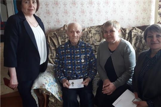 95-летний юбилейный день рождения отметил ветеран Великой Отечественной войны Евстафьев Николай Васильевич