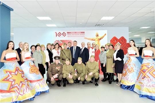 Делегация Яльчикского района - на торжественном мероприятии, посвященном старту празднования 100-летия Чувашской автономии