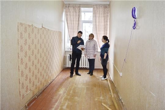 В помещениях архива администрации Яльчикского района начат текущий ремонт