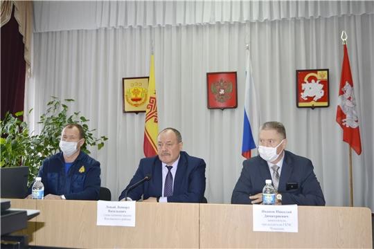На заседании КЧС обсуждался вопрос о принимаемых мерах по стабилизации обстановки с пожарами и гибели людей на территории Яльчикского района
