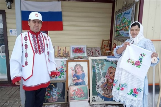 Предприниматели Яльчикского района участвуют в акциях ко Дню чувашской вышивки