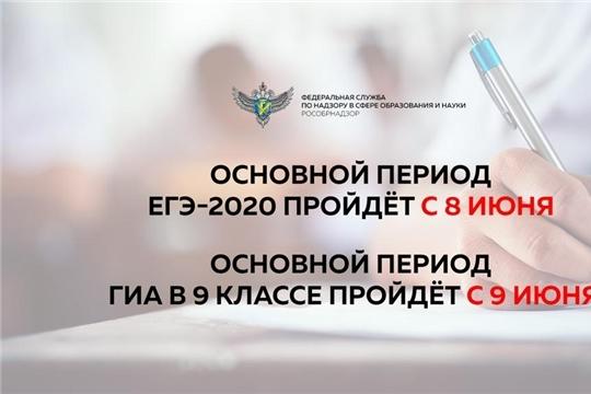 Срок начала основного периода ЕГЭ-2020 будет перенесен на 8 июня, ОГЭ-2020 – на 9 июня