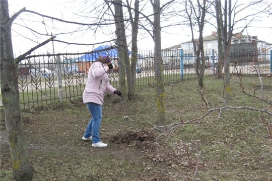 Субботник в Таушкасинском сельском поселении