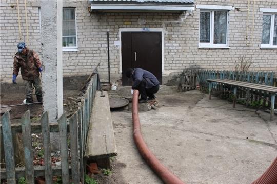 Чистка канализационных сетей по улице П.Иванова п. Опытный