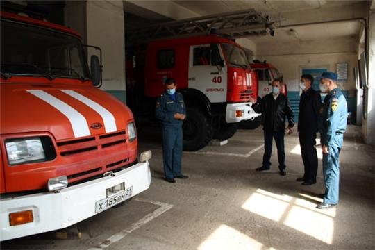 Глава администрации Цивильского района Сергей Беккер провел  рабочую встречу с представителями пожарной охраны