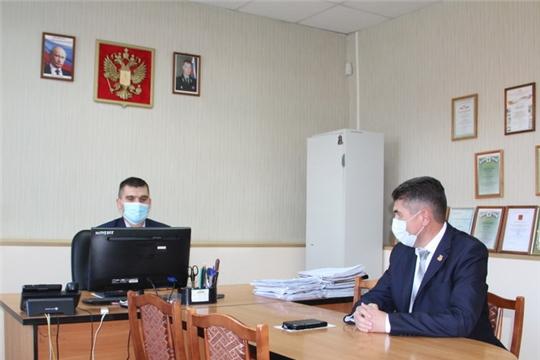 Состоялась рабочая встреча главы администрации района и старшего судебного пристава Цивильского районного отделения судебных приставов