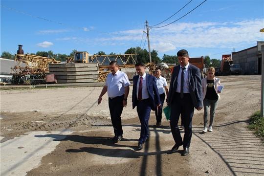 Цивильский район с рабочим визитом посетил руководитель министерства экономического развития и имущественных отношений Дмитрий Краснов