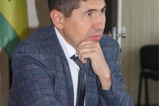 Министр физической культуры и спорта Чувашии Василий Петров посетил Цивильский район